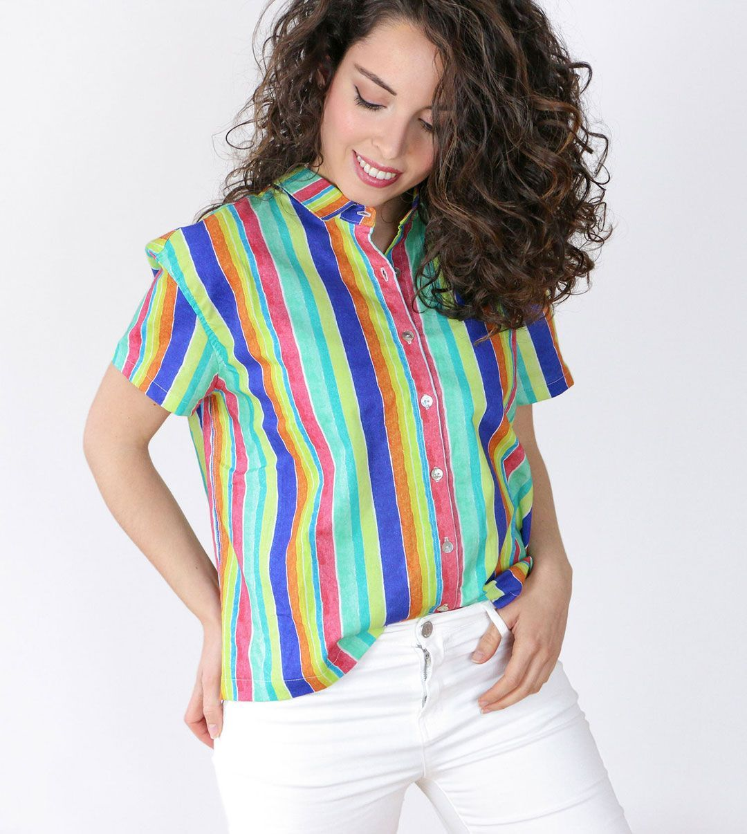 Camisa mujer coral algodón orgánico