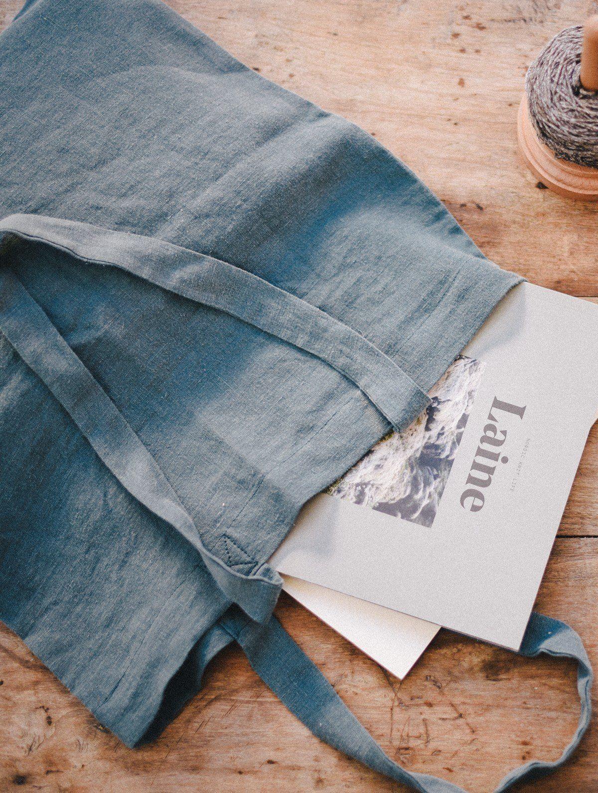Detalle de bolsa de lino
