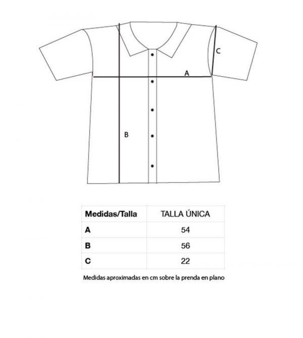 Medidas camisa anémonas algodón orgánico mujer