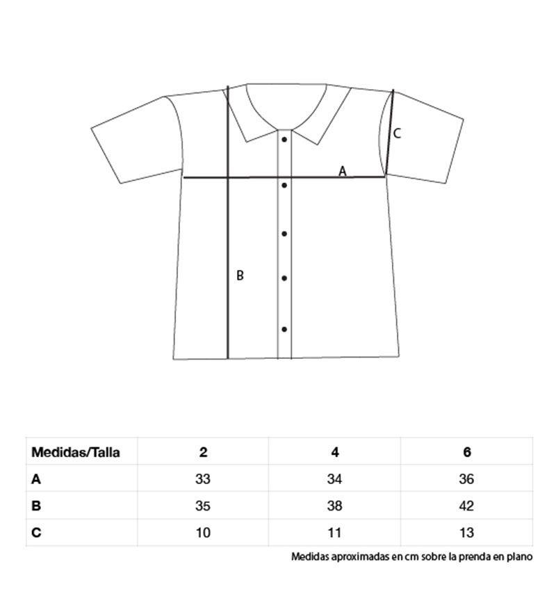 Medidas camisa infantil algodón orgánico peces