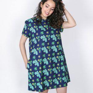 Vestido mujer anémonas algodón orgánico