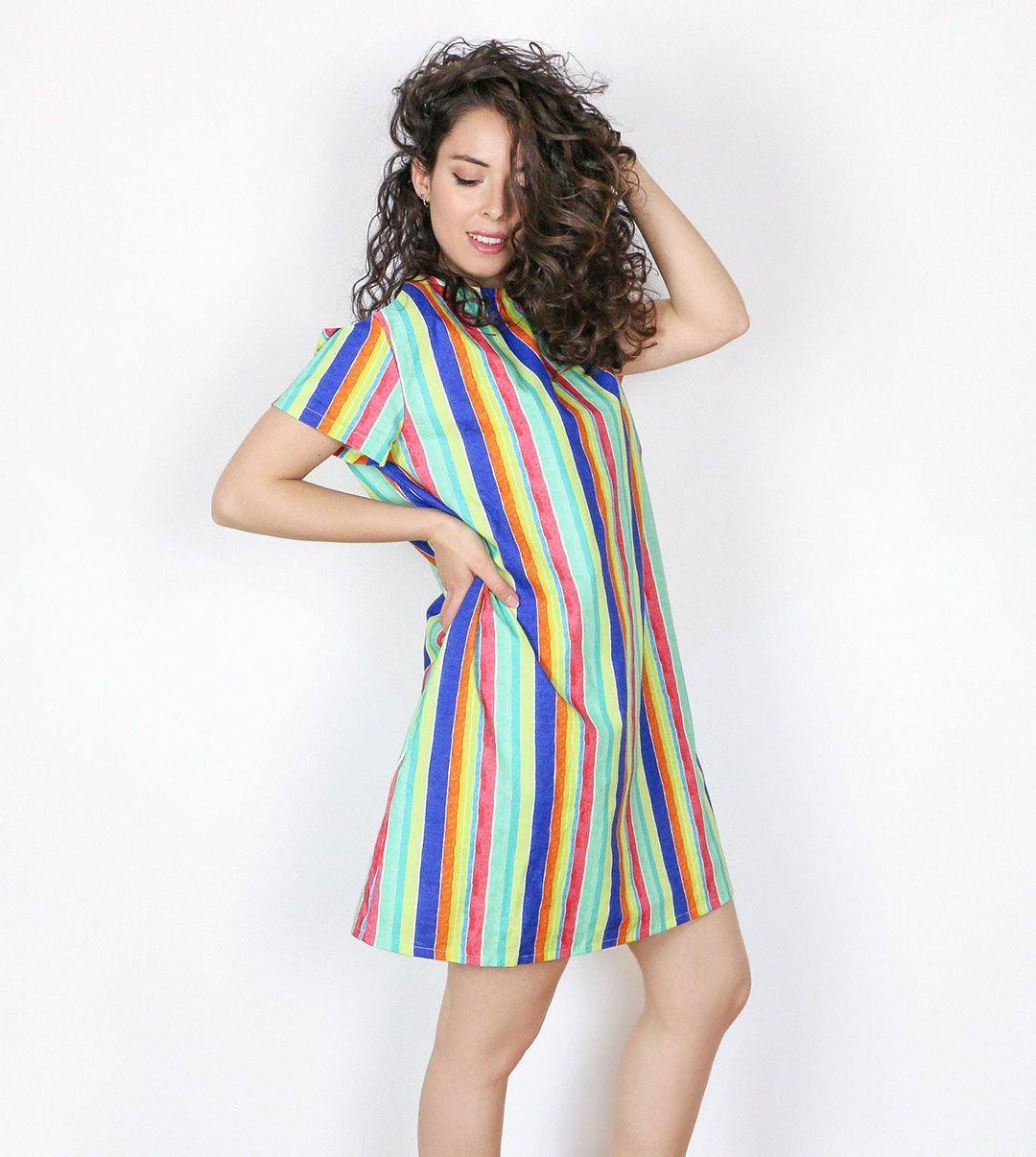 Vestido mujer coral algodón orgánico