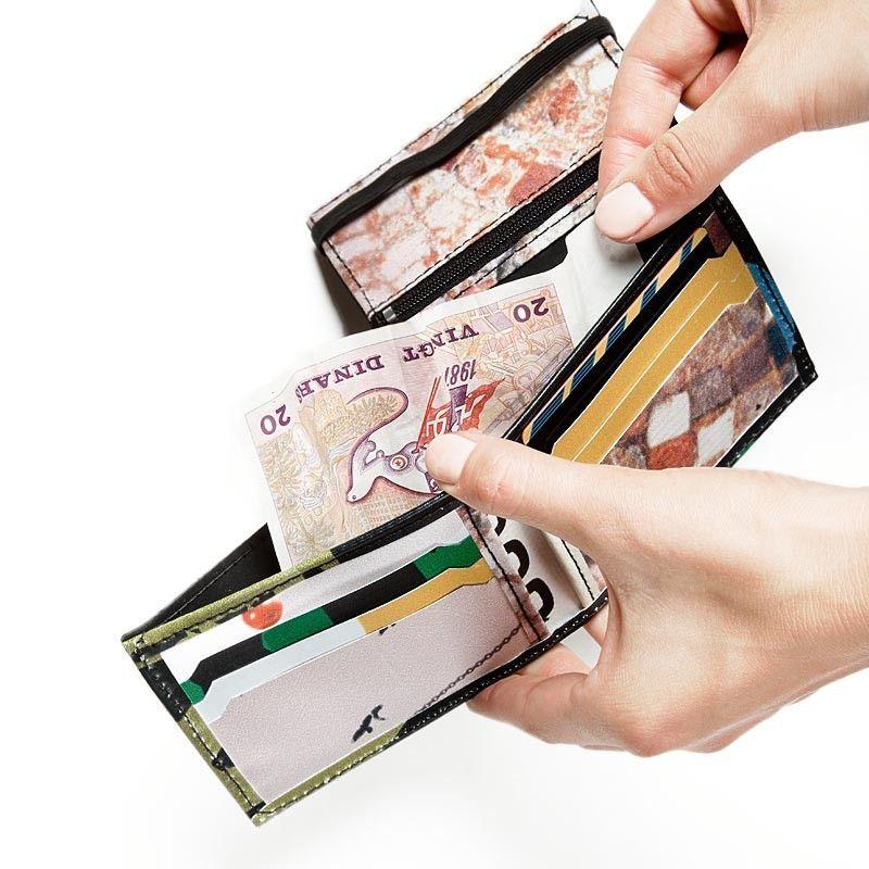 Cartera para billetes, monedas y tarjetas
