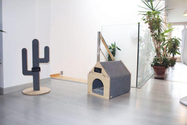 Casa para gatos y rascador para gatos