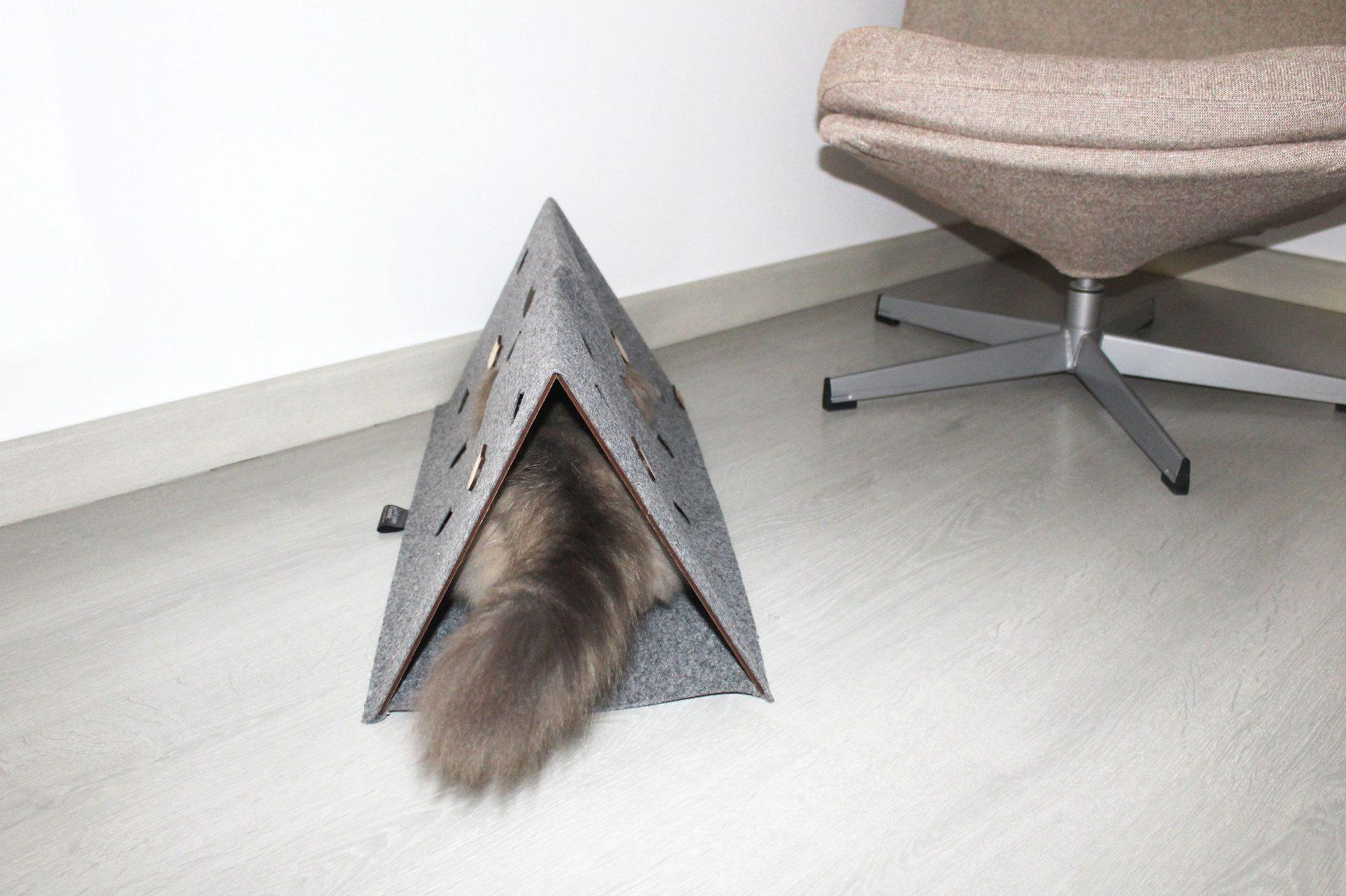 Escondite para gatos plegable
