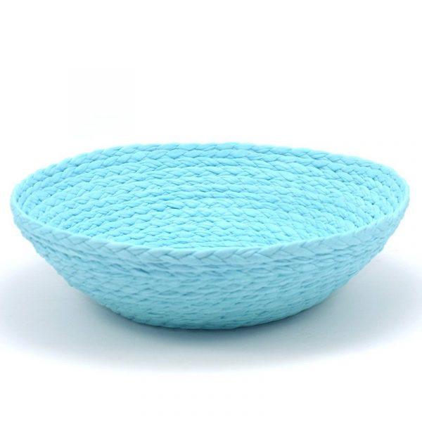 Bol de tela azul turquesa