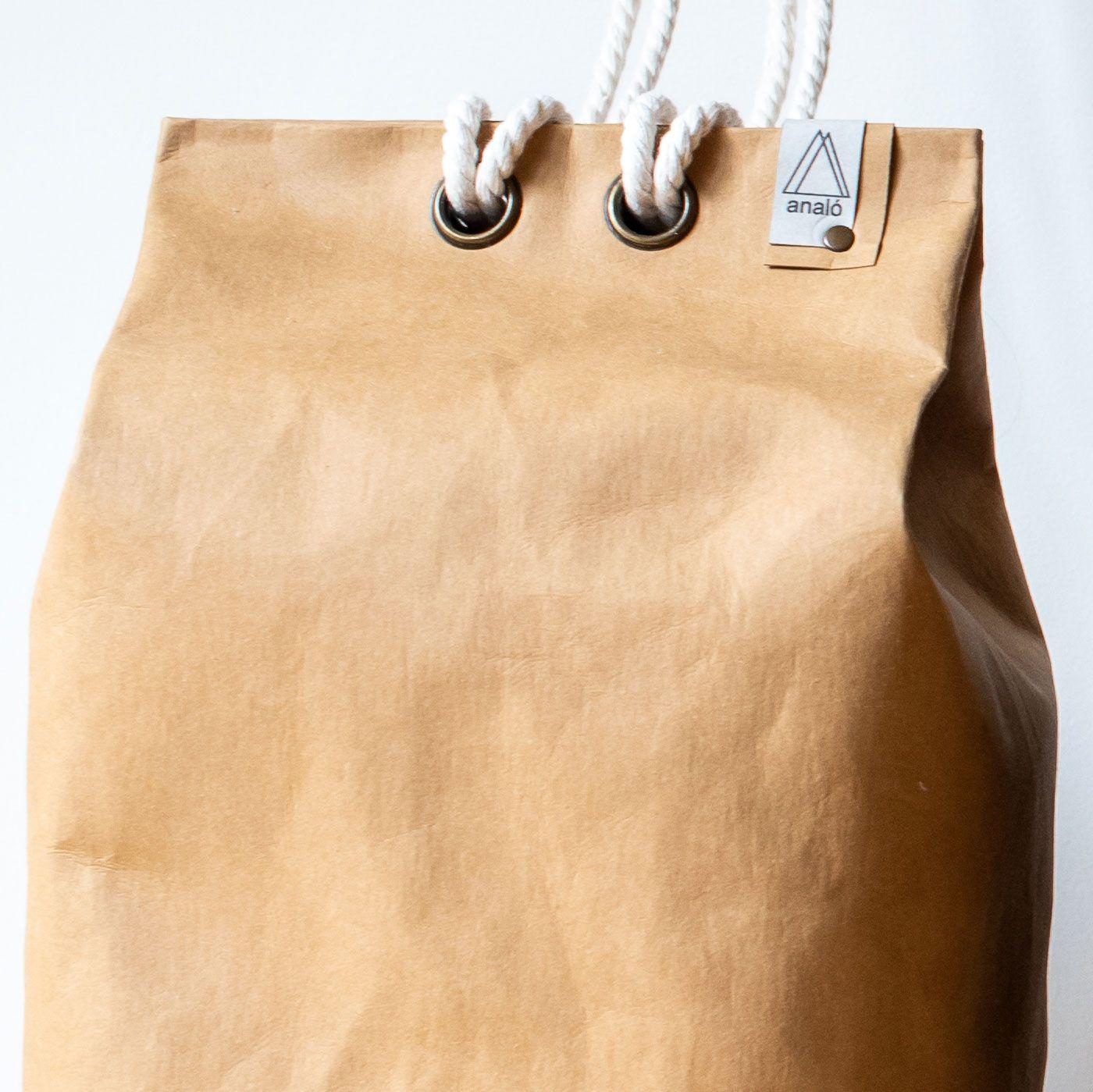 Bolso saco grande color arena
