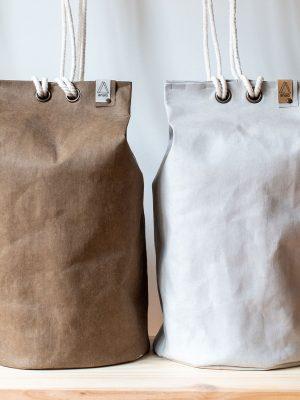 Bolso saco grande de papel lavable