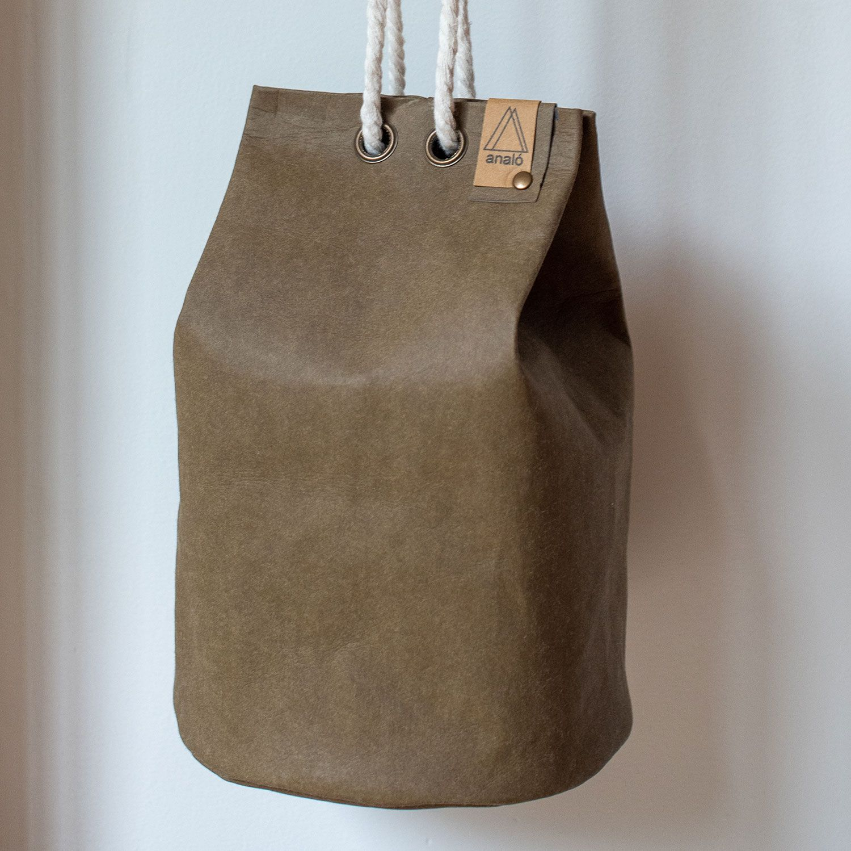 Bolso saco pequeño color oliva