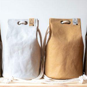 Bolso saco pequeño de papel lavable