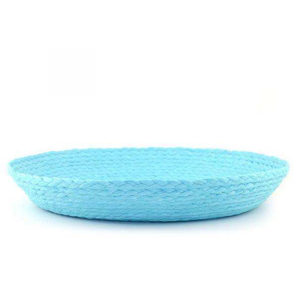 Centro de mesa de tela azul celeste