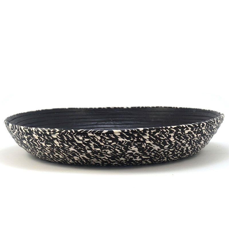 Centro de mesa de tela color zebra