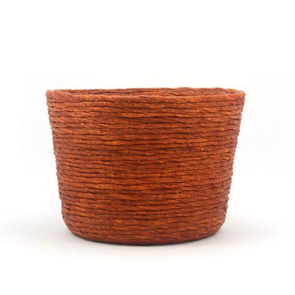Cubre macetas grande color cobre