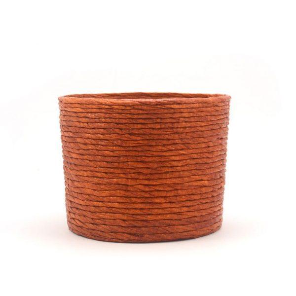 Cubre macetas mediano color cobre