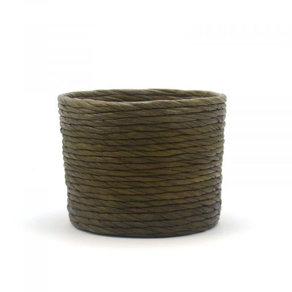 Cubre macetas mediano color oliva