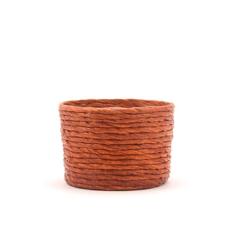 Cubre macetas pequeño color cobre