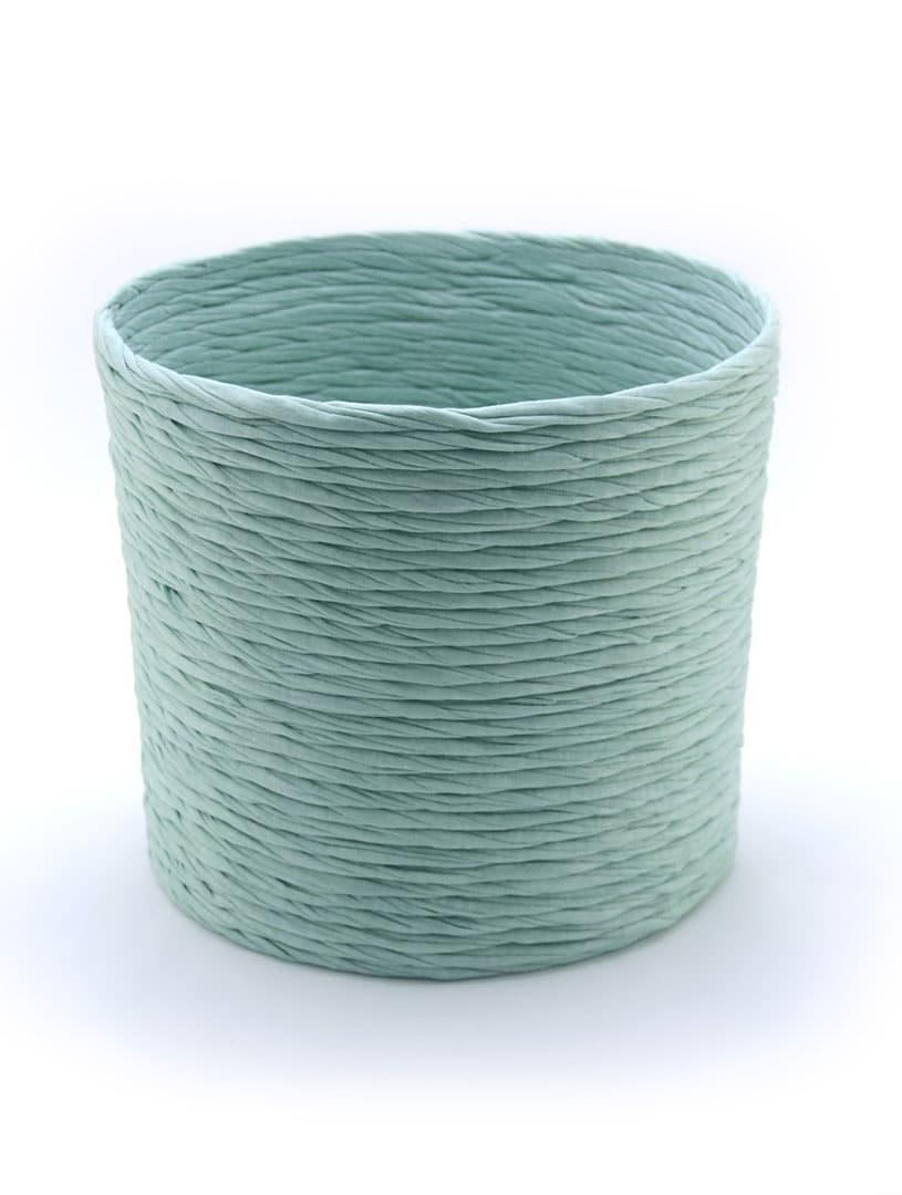 Cubremacetas de tela reciclada verde
