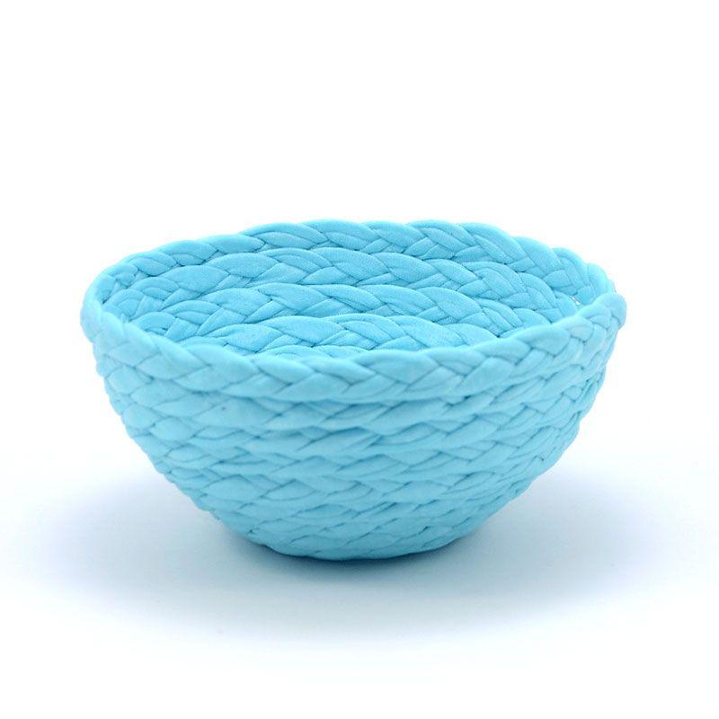 Cuenco de tela azul celeste