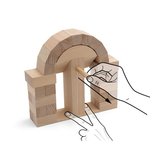 Juego de arquitectura de madera