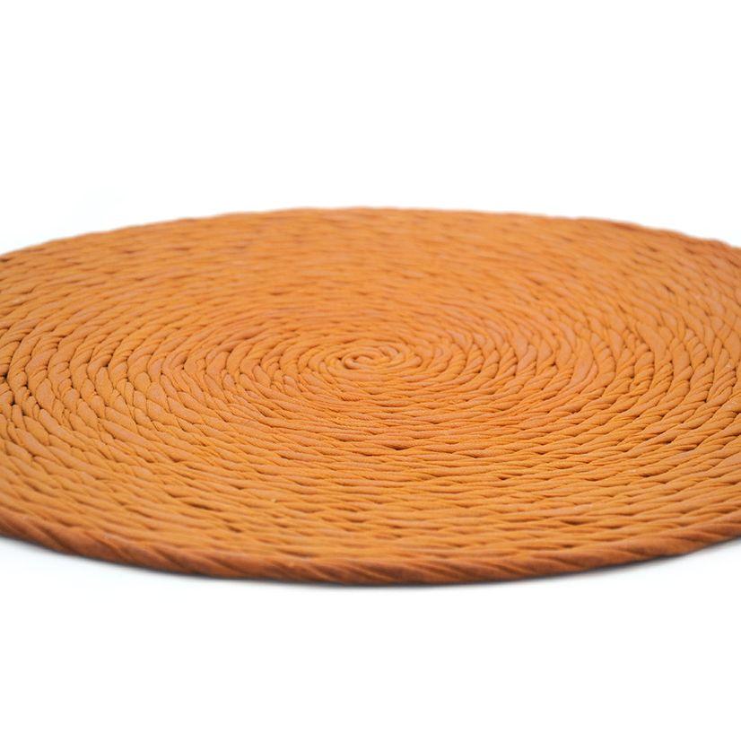 Mantel individual reciclado color naranja