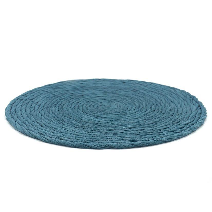 Manteles individuales tela azul petróleo