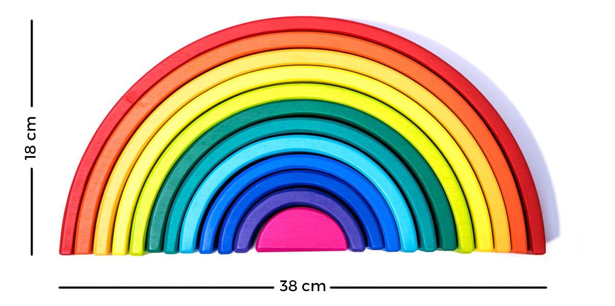 Medidas arcoiris Waldorf grande