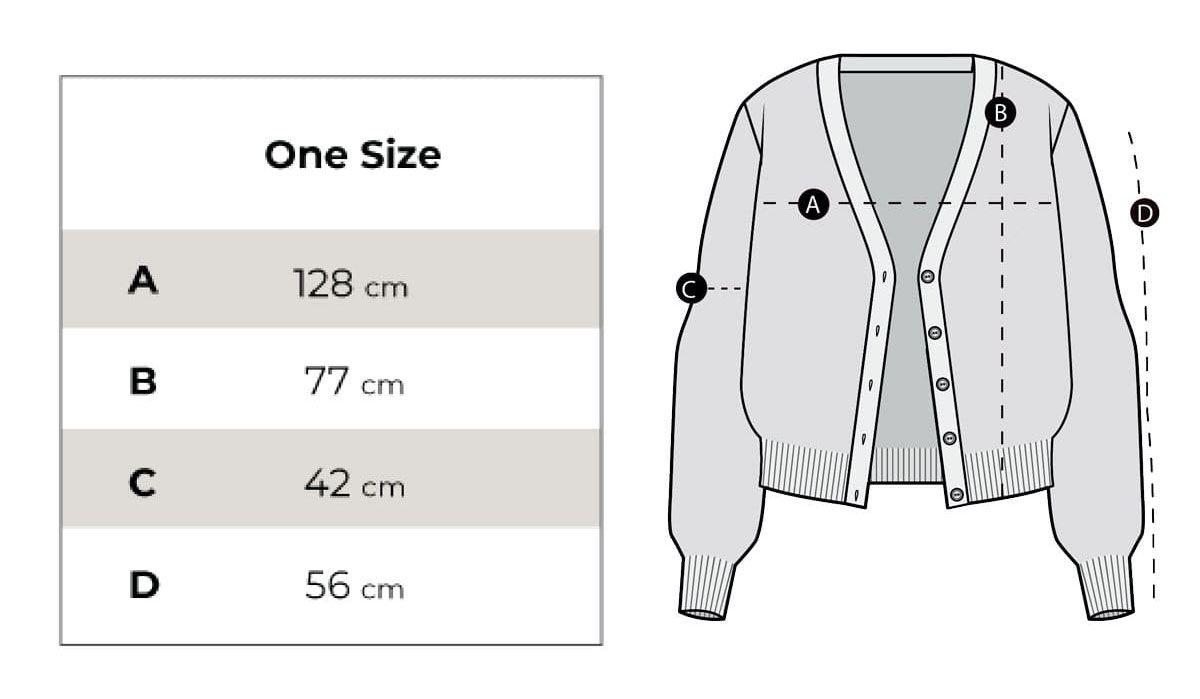 Medidas cardigan de lana mujer