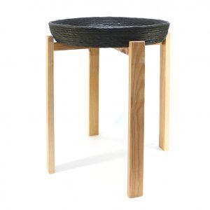Mesa auxiliar madera reciclada oliva