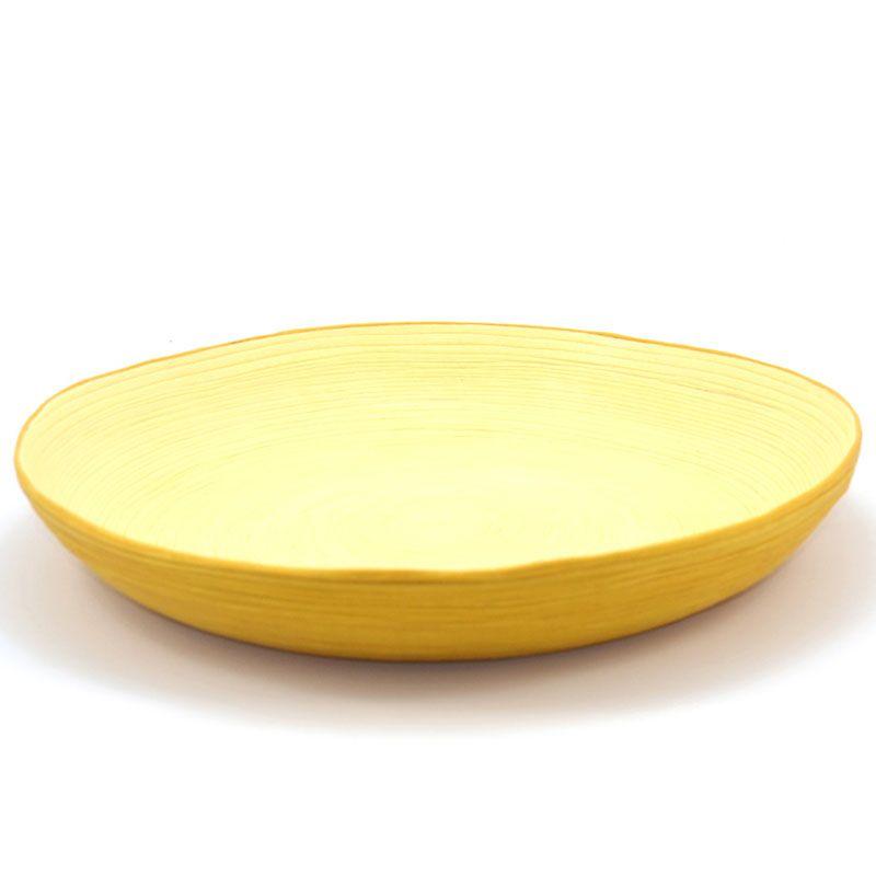Plato decorativo color mostaza