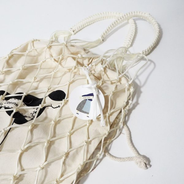 Bolsa blanca Cholita Corme con bolsa de algodón orgánico