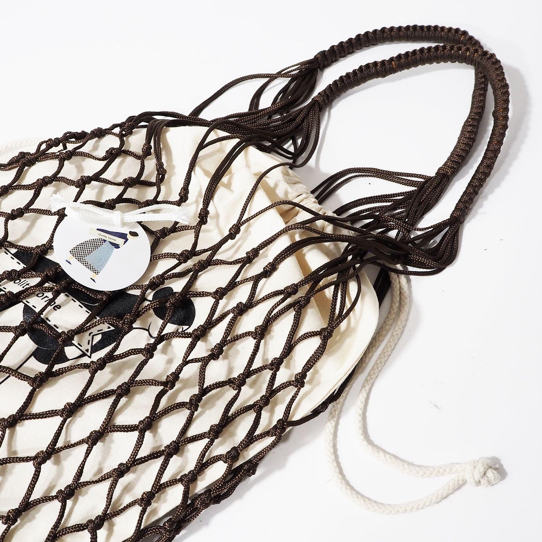 Bolsa marrón Cholita Corme con bolsa de algodón orgánico