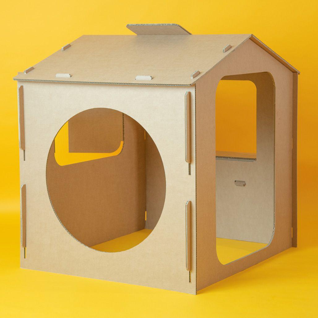 Casa de cartón para pintar