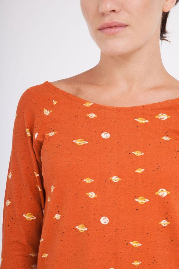 Camiseta estampado saturno mujer