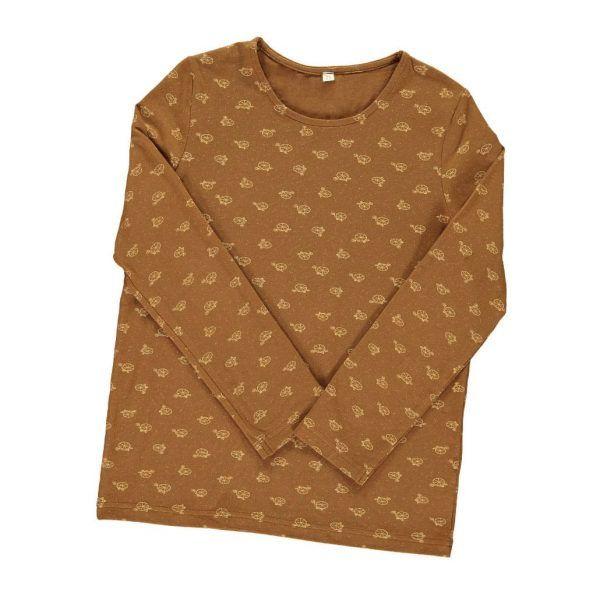 Camiseta infantil algodón orgánico marrón