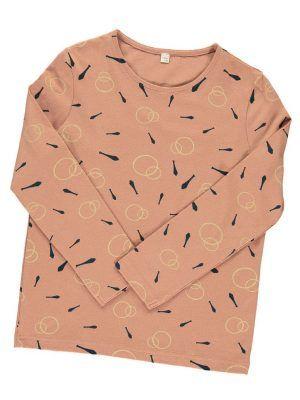 Camiseta manga larga niños algodón orgánico rosa