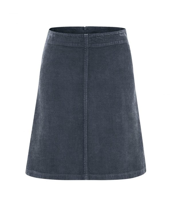 Falda de pana azul oscuro