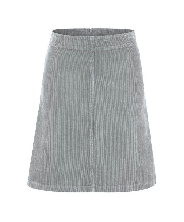 Falda de pana gris