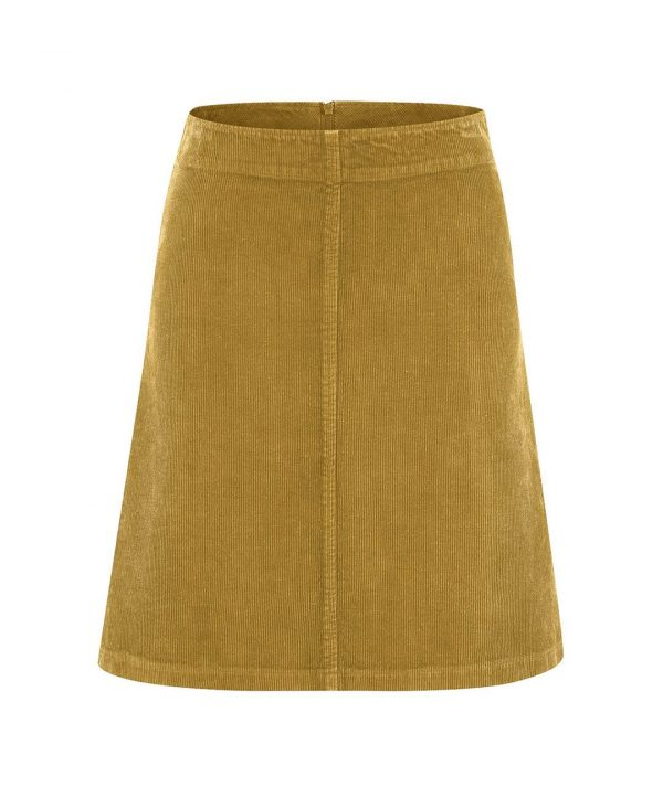 Falda de pana marrón