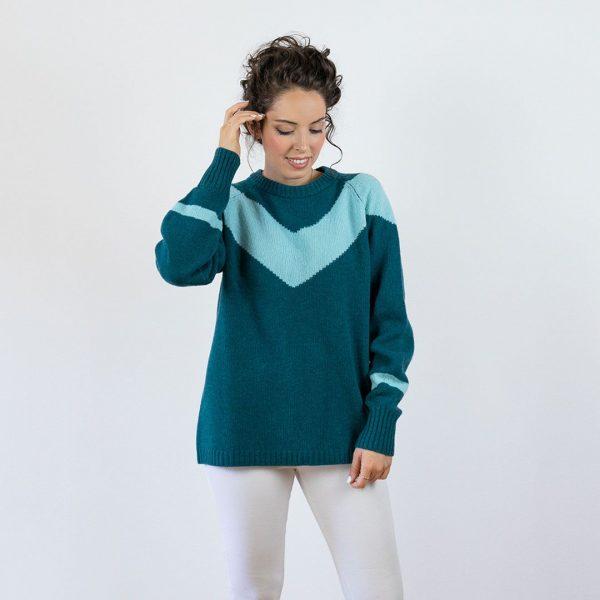 Jersey lana mujer chevron