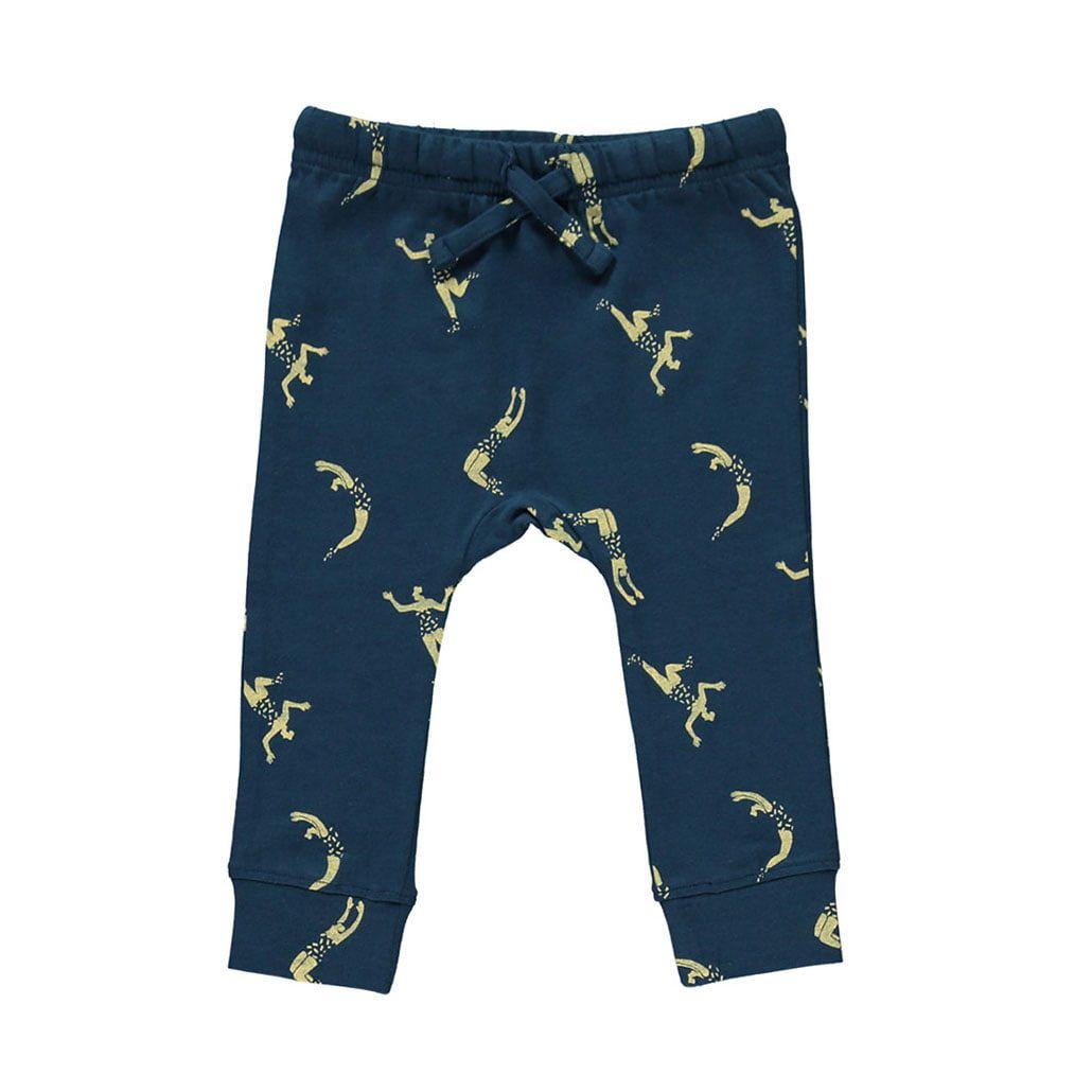 Pantalón infantil de algodón orgánico azul marino