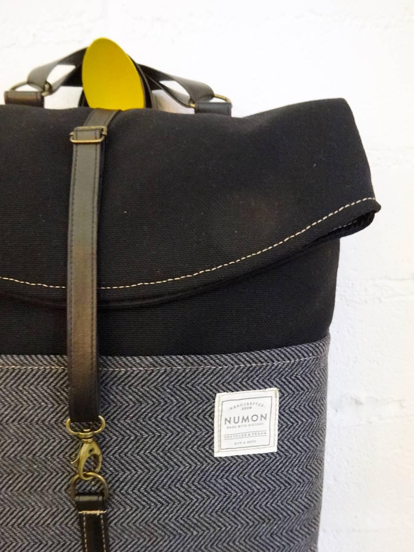 Detalle mochila impermeable Numon