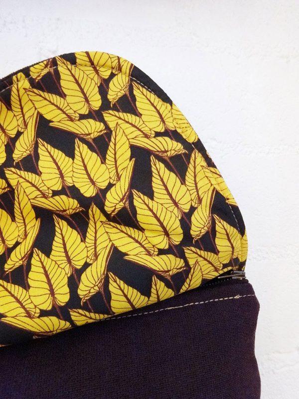 Forro de hojas amarillas mochila upcycling