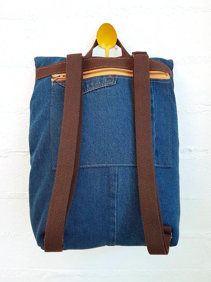 Espalda mochila reciclada vaquera