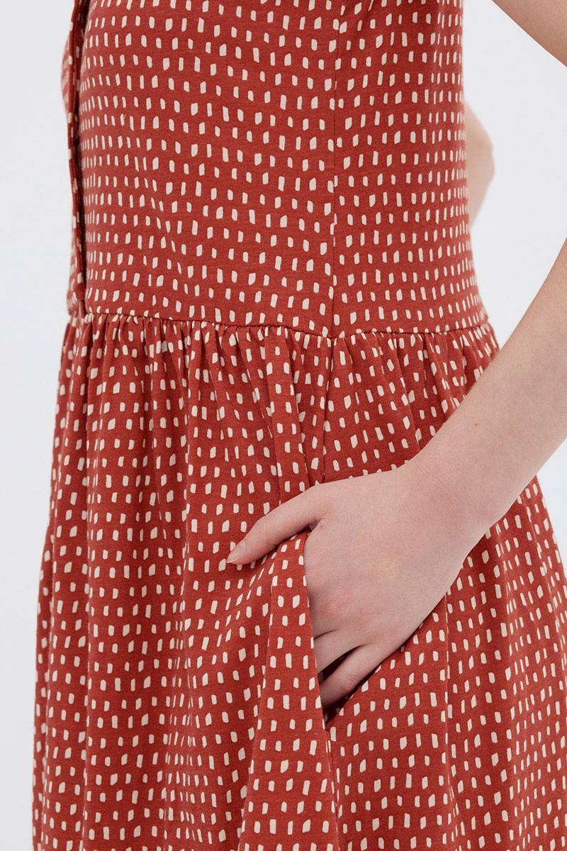 Bolsillo de vestido oversize de algodón orgánico