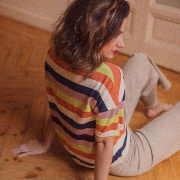 Jersey verano rayas de colores vista trasera