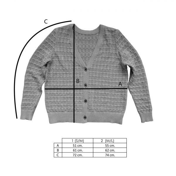 Medidas chaqueta de punto estructurado arándano