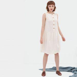 Vestido blanco reversible de algodón orgánico