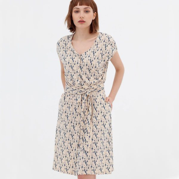 Vestido manga corta algodón orgánico