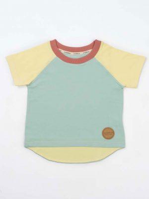 Camiseta manga corta niños de algodón orgánico