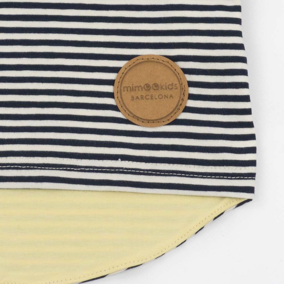Etiqueta de papel reciclado lavable camiseta infantil vainilla